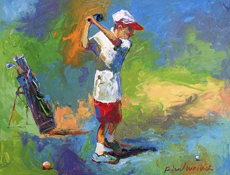 Kid Golf by Richard Wallich art print