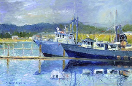 Fishing Boats On Oregon Coast by Richard Wallich art print