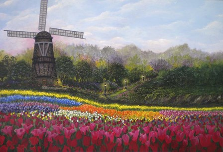 Tulip Garden by Bonnie B. Cook art print