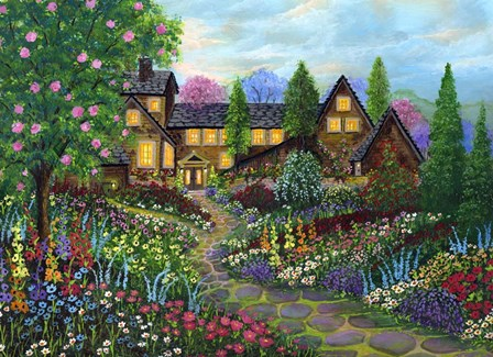Chalet Gardening by Bonnie B. Cook art print