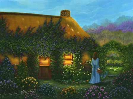 Irish Cottage by Bonnie B. Cook art print