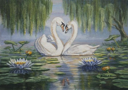 Swan Love by Bruce Dumas art print