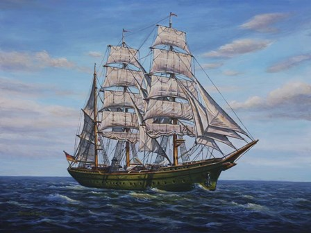 Clipper Ship by Bruce Dumas art print