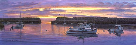 Rockport, Ma Sunset by Bruce Dumas art print