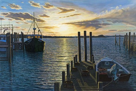 Westport Harbor, Ma by Bruce Dumas art print