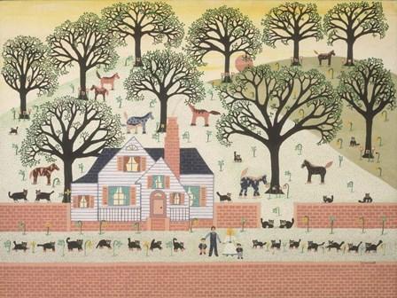 Brick Farm by David Sheskin art print