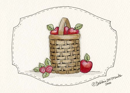 Tall Apple Baskets by Debbie McMaster art print