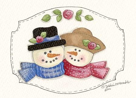 Snow Couple 2 by Debbie McMaster art print