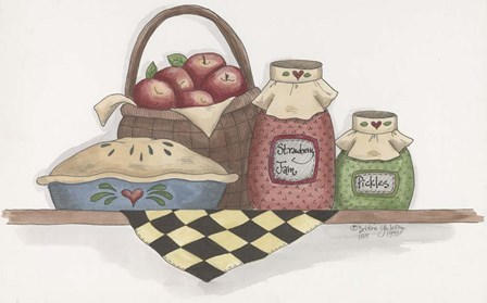 Apple Pie With Basket by Debbie McMaster art print