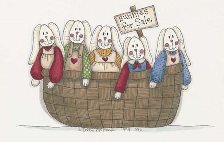 Bunnies For Sale 2 by Debbie McMaster art print