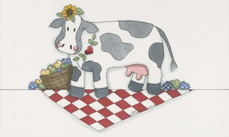 Country Cow by Debbie McMaster art print