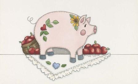 Country Pig by Debbie McMaster art print