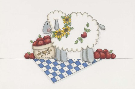 Country Sheep by Debbie McMaster art print