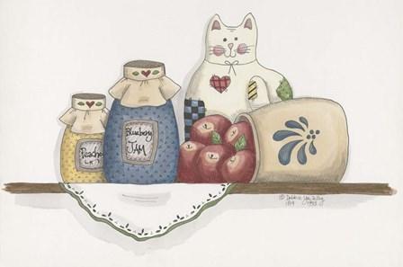 Patchwork Cat Jam by Debbie McMaster art print