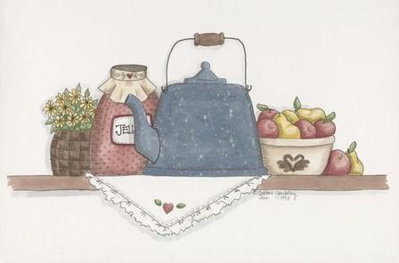 Teapot With Crock by Debbie McMaster art print