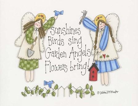 Garden Angels by Debbie McMaster art print