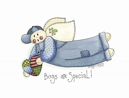 Boys Are Special Angel by Debbie McMaster art print