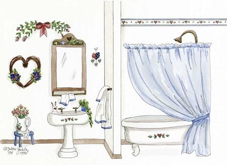 Country Bath 1 by Debbie McMaster art print