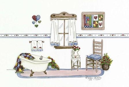 Country Bath 2 by Debbie McMaster art print