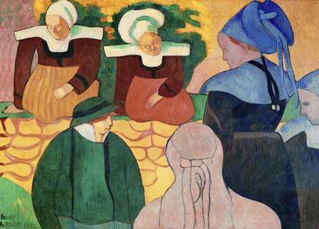 Women in Brittany by Emile Bernard art print