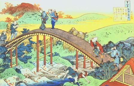 Autumn, Red Sycamore Leaves on the River Tatsuta by Katsushika Hokusai art print