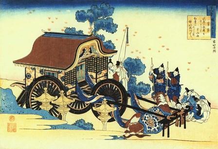 Uda Tenno Visits Mount Tamuke by Katsushika Hokusai art print