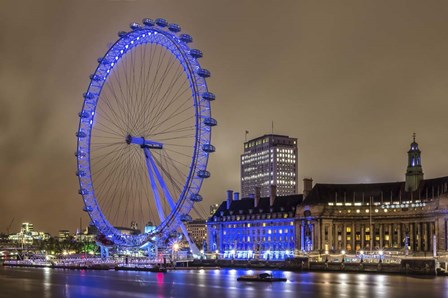 Blue Ferris Wheel by Giuseppe Torre art print