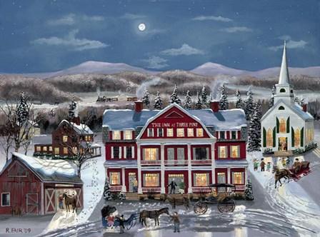 The Inn At Three Pine by Bob Fair art print