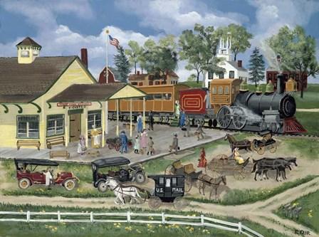 Train Station by Bob Fair art print
