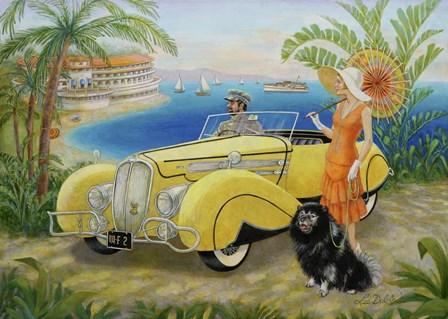Great Gatsby by Lee Dubin art print