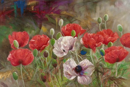 Poppies III by Li Bo art print