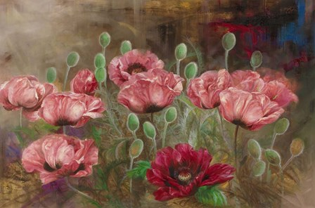 Poppies IV by Li Bo art print
