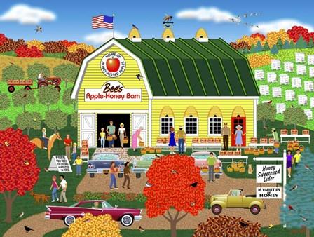 Bee's Apple Honey Barn by Mark Frost art print