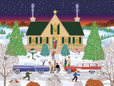 Christmas Eve At Gramma's by Mark Frost art print