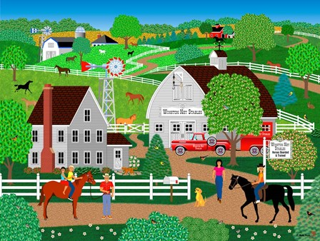 Horse Country by Mark Frost art print