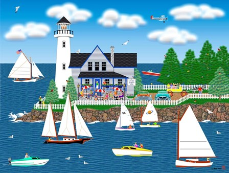 Summer Lighthouse by Mark Frost art print