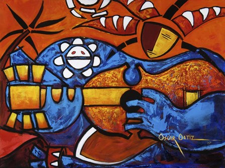 Jester by Oscar Ortiz art print