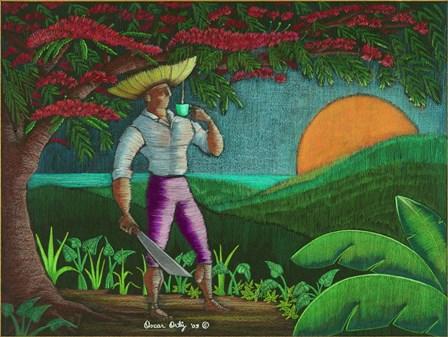 Sombrero by Oscar Ortiz art print