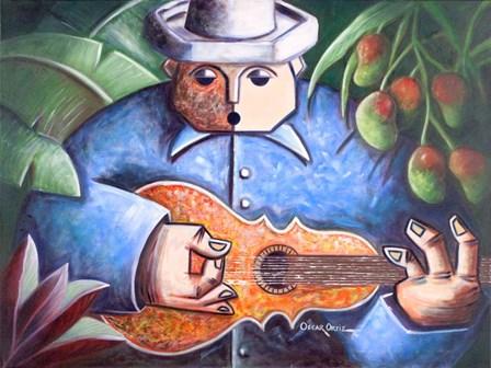 Musician I by Oscar Ortiz art print