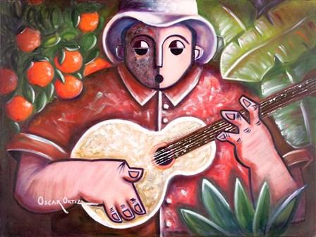 Musician III by Oscar Ortiz art print