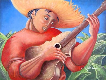 Musician IV by Oscar Ortiz art print