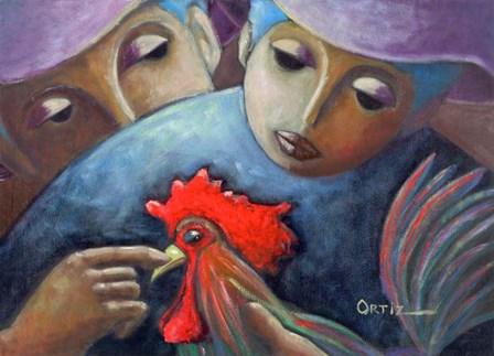 Rooster by Oscar Ortiz art print