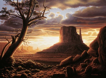The Southwest Sun by R.W. Hedge art print