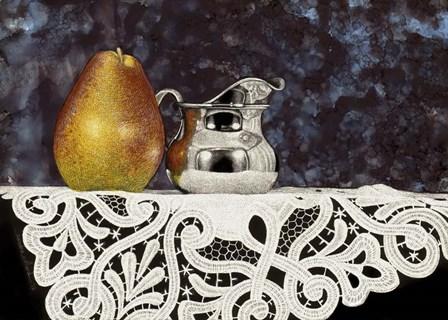 Pear And Silver Creamer by Sandra Willard art print