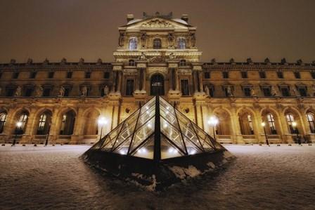 Louvre at Night by Sebastien Lory art print
