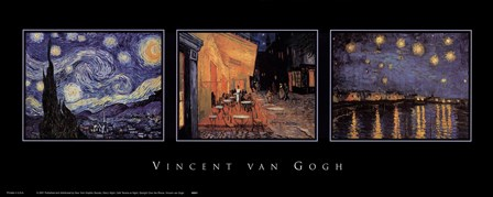 Van Gogh Trilogy by Vincent Van Gogh art print