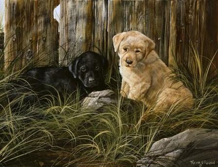 Lab Pup Pair by Trevor V. Swanson art print
