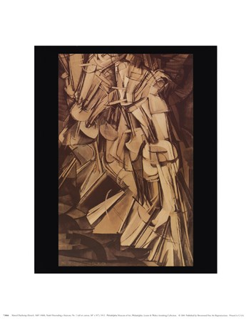 Nude Descending Staircase by Marcel Duchamp art print