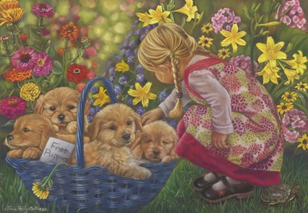 Basket Full Of Love by Tricia Reilly-Matthews art print