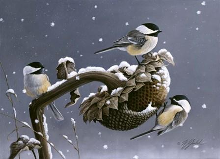Winter Trio by Wilhelm J. Goebel art print